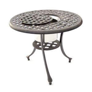 Brompton Cast Aluminum Ice Bucket Table
