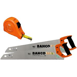 BAHCO TWIN PACK SAW SET & 5M MEASURING TAPE