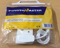 Powermaster 4 Way Extension Lead 2M