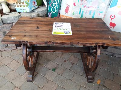 Wooden Wheel Table - Large