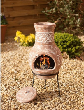 La Hacienda Essentials Clay Chiminea - 69 x 30cm