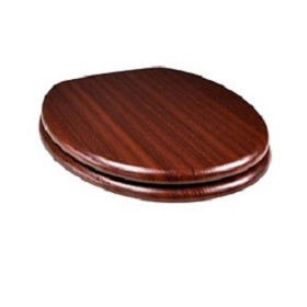 Tema Mahogany Timber Toilet Seat