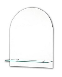 Tema Bevelled Arch Top Mirror With 1 Shelf 50 X 40CM