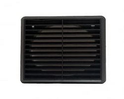 "4"" Black Terminal Vent With Flyscreen"