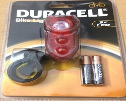 Duracell LED Rear Bicycle Light