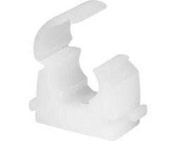 "1"" White Hinged Pipe Clip"