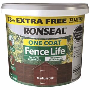 Ronseal One Coat Fencelife - 9 Litre 33% Extra Free