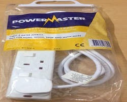Powermaster 4 Gang Extension Lead 2M